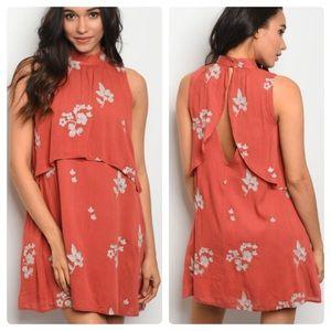 977a53d4096a Dresses & Skirts - Split back floral embroidered dress